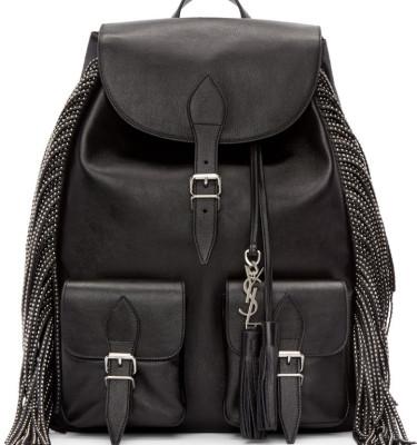 yves st laurent handbags sale - anita mini flat suede shoulder bag with fringe, black