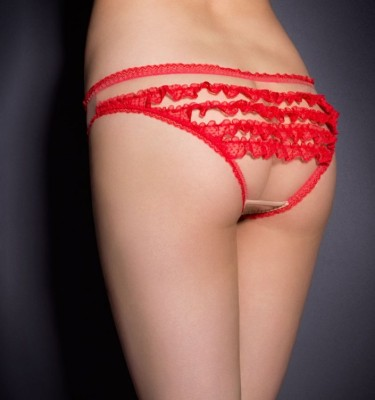 FROUFROU BRIEF RED/NUDE