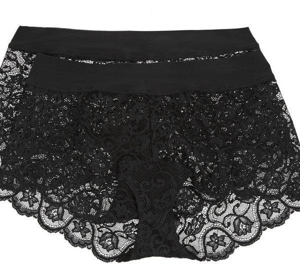 COMMANDO DOUBLE TAKE SET OF TWO STRETCH-LACE BOY SHORTS